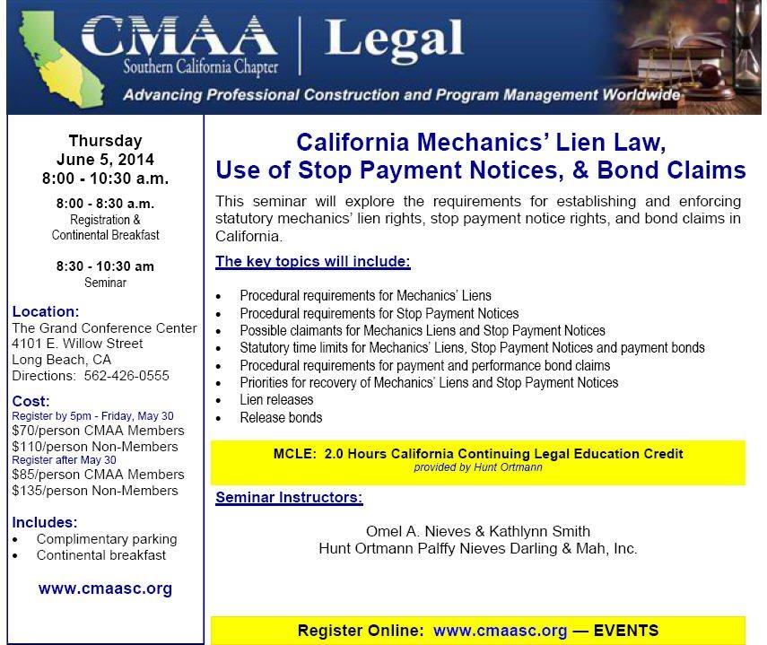 CMAA Flyer Mechanics Liens